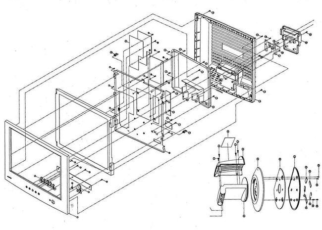 Рассмотрим принцип работы монитора по структурной и принципиальной схемам.  Структурная схема монитора приведена на...