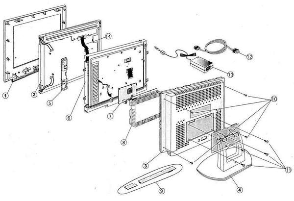 Конструкция монитора FLATRON